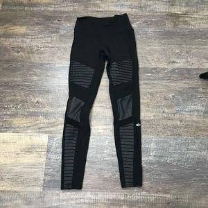 Alo Yoga Moto Black Highwaisted Skinny Leggings